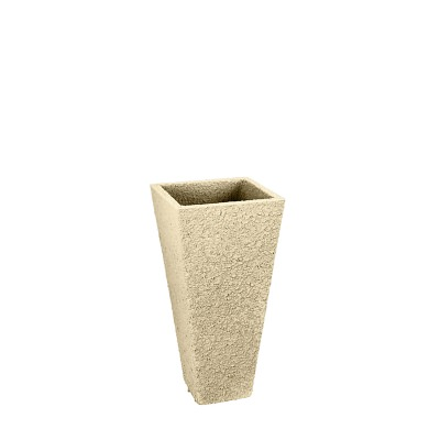 20 In. Tall Square Fiberclay Outdoor Patio Planter Pot available in Cream Grey or Anthracite