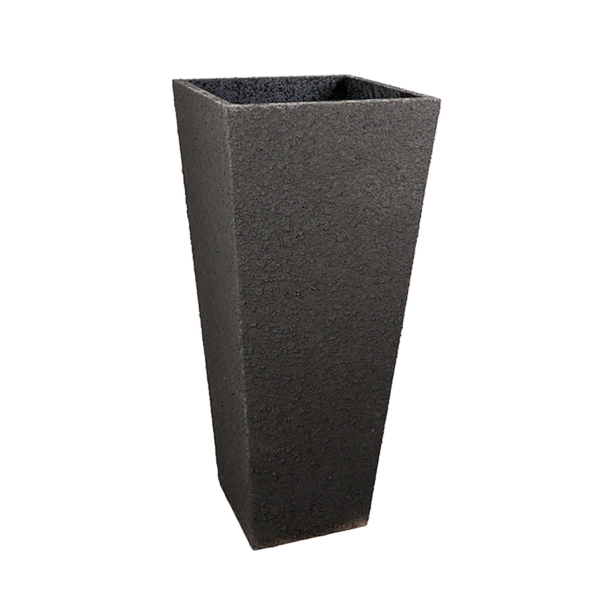 planter tall le inch or available cream xx anthracite square in color outdoor patio grey present fiberclay by pot