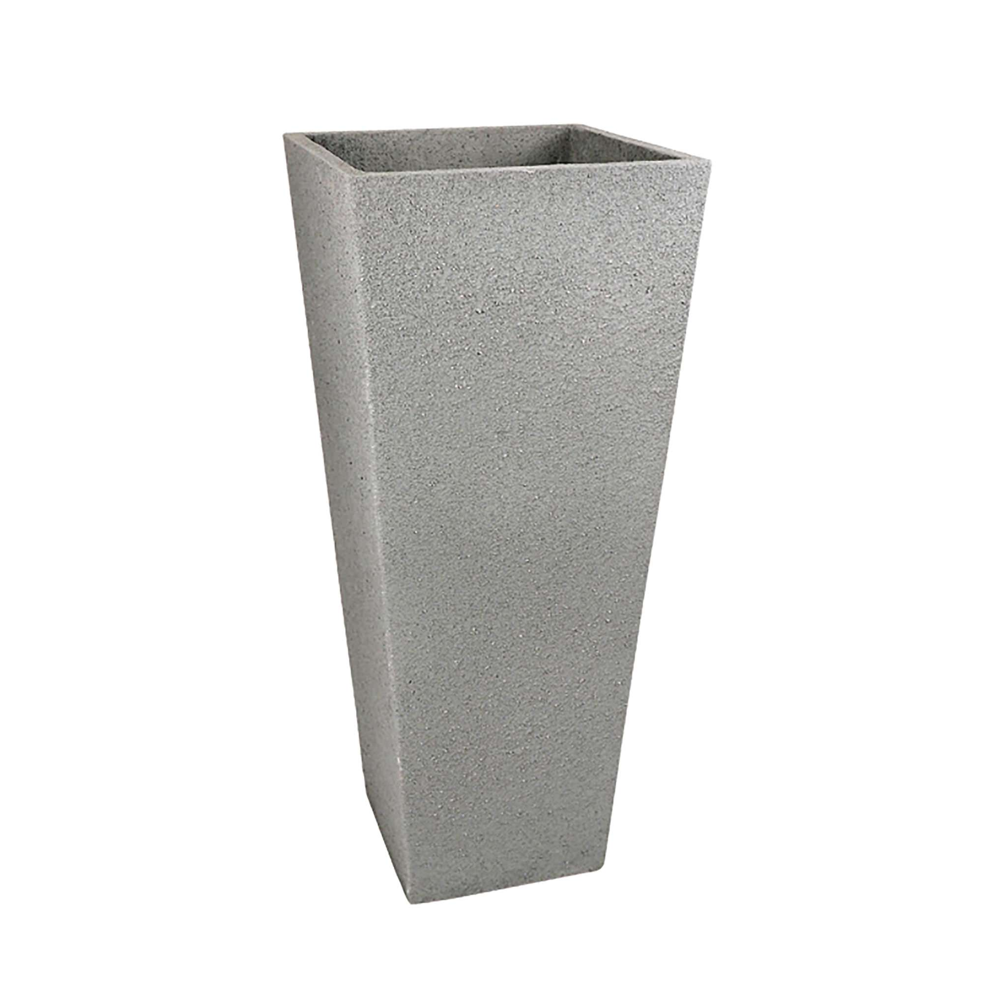 ... 37 In. Tall Square Fiberclay Outdoor Patio Planter Pot Available In  Cream Grey Or Anthracite