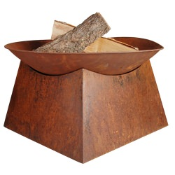 Round Steel Fire Bowl with Stand