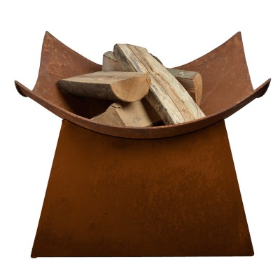 Square Steel Fire Bowl with Stand