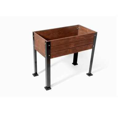 SGC 32 in wide Elevated Wooden Planter in Expresso