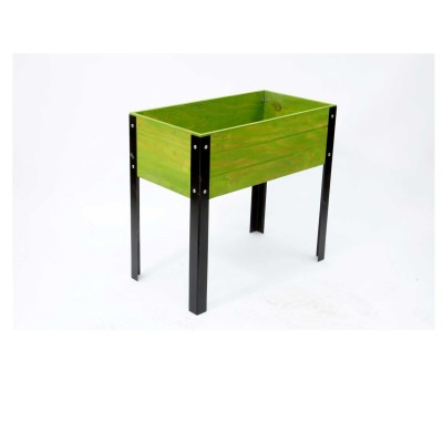 SGC 32 in wide Elevated Wooden Planter in Green