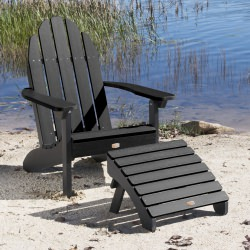 Essential Adirondack Chair with Folding Ottoman
