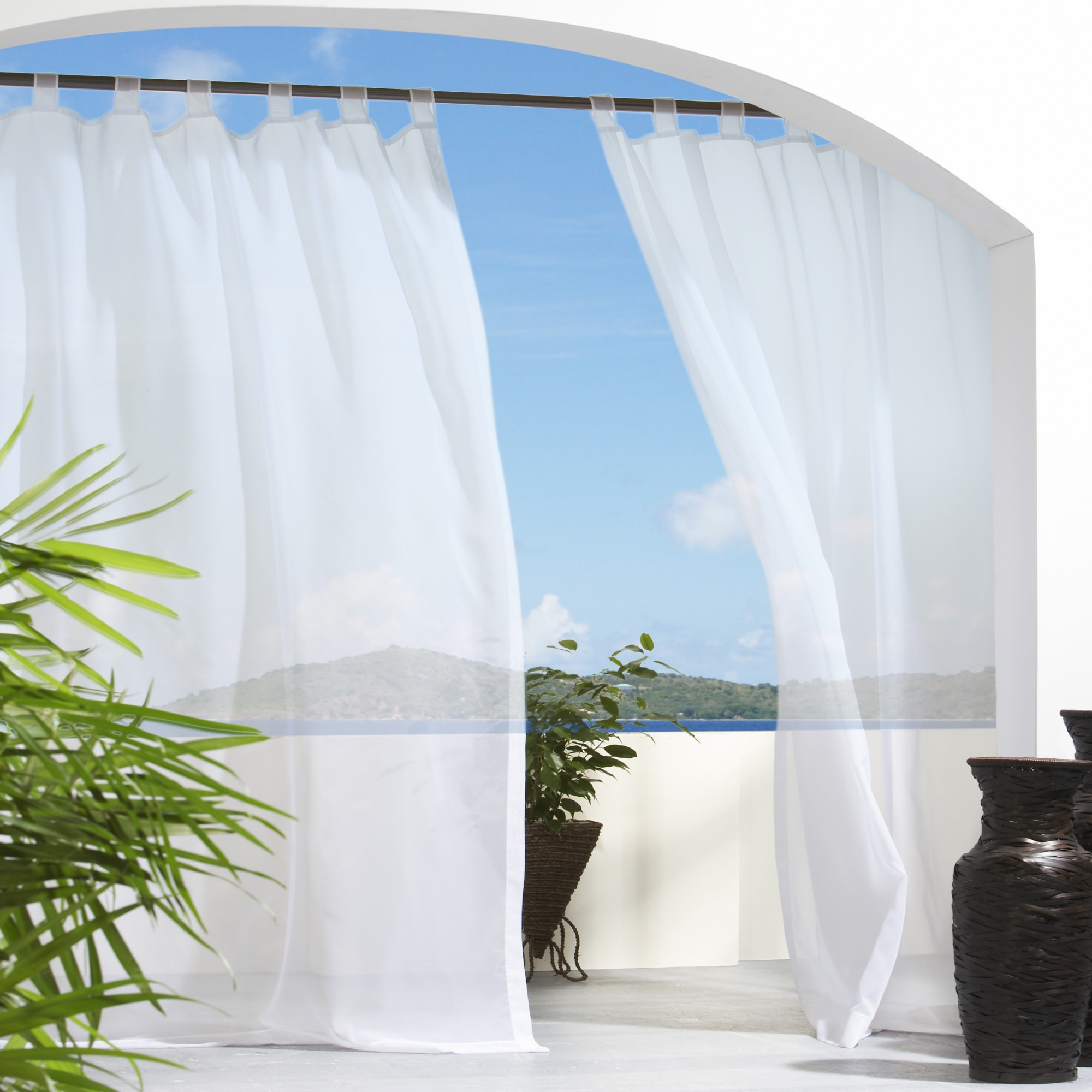 l patio outdoor panels sheer for tab curtain curtains intended x