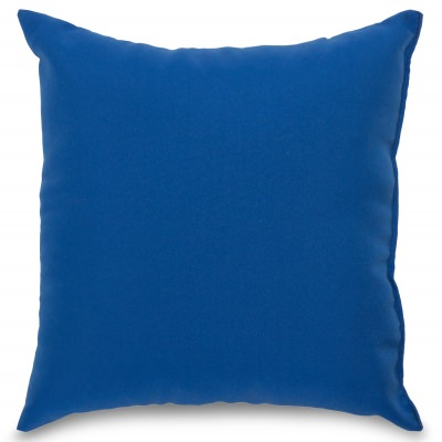 Royal Blue Outdoor Throw Throw Pillow 16 in. x 16 in. Square