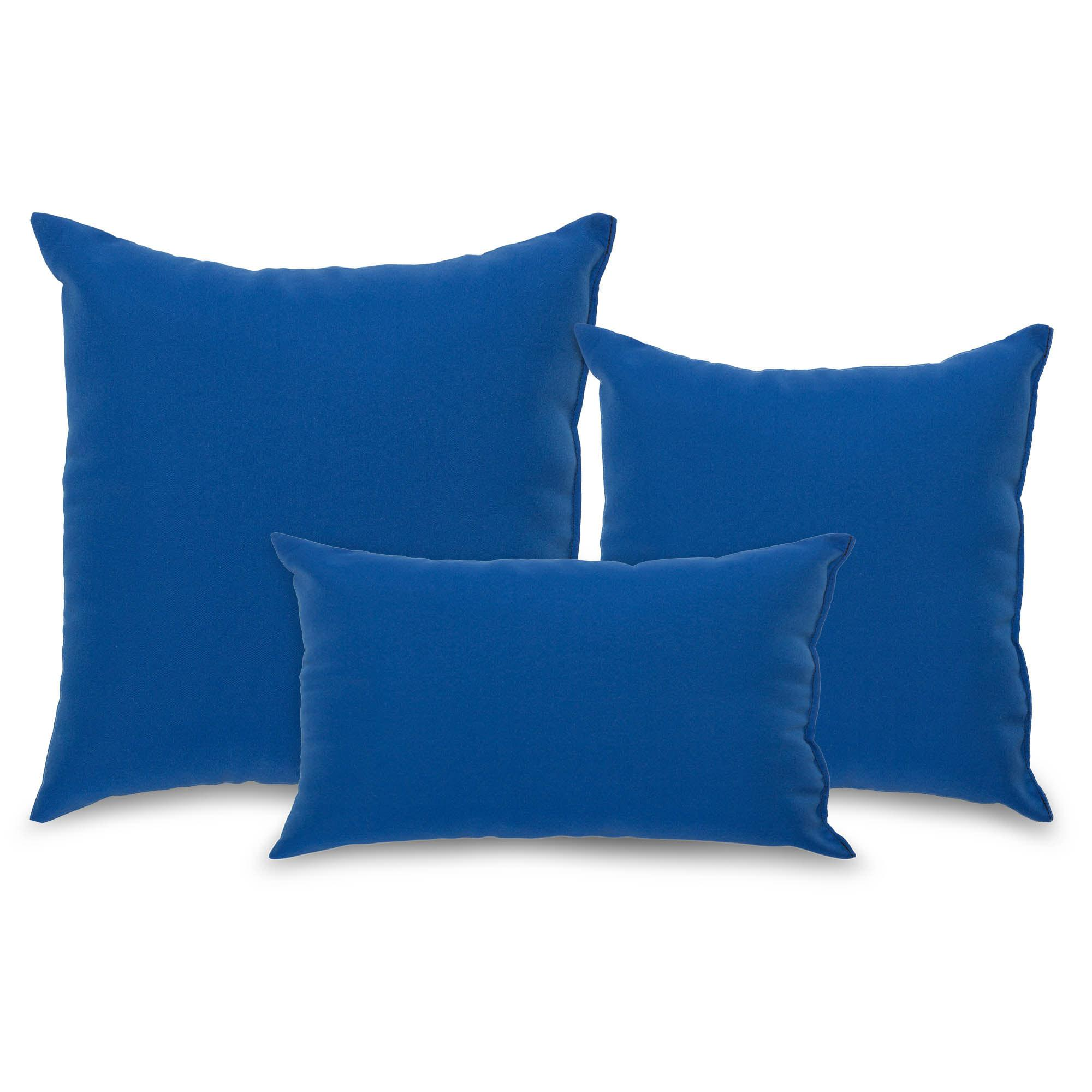 Royal Blue Outdoor Throw Pillow DFOHome