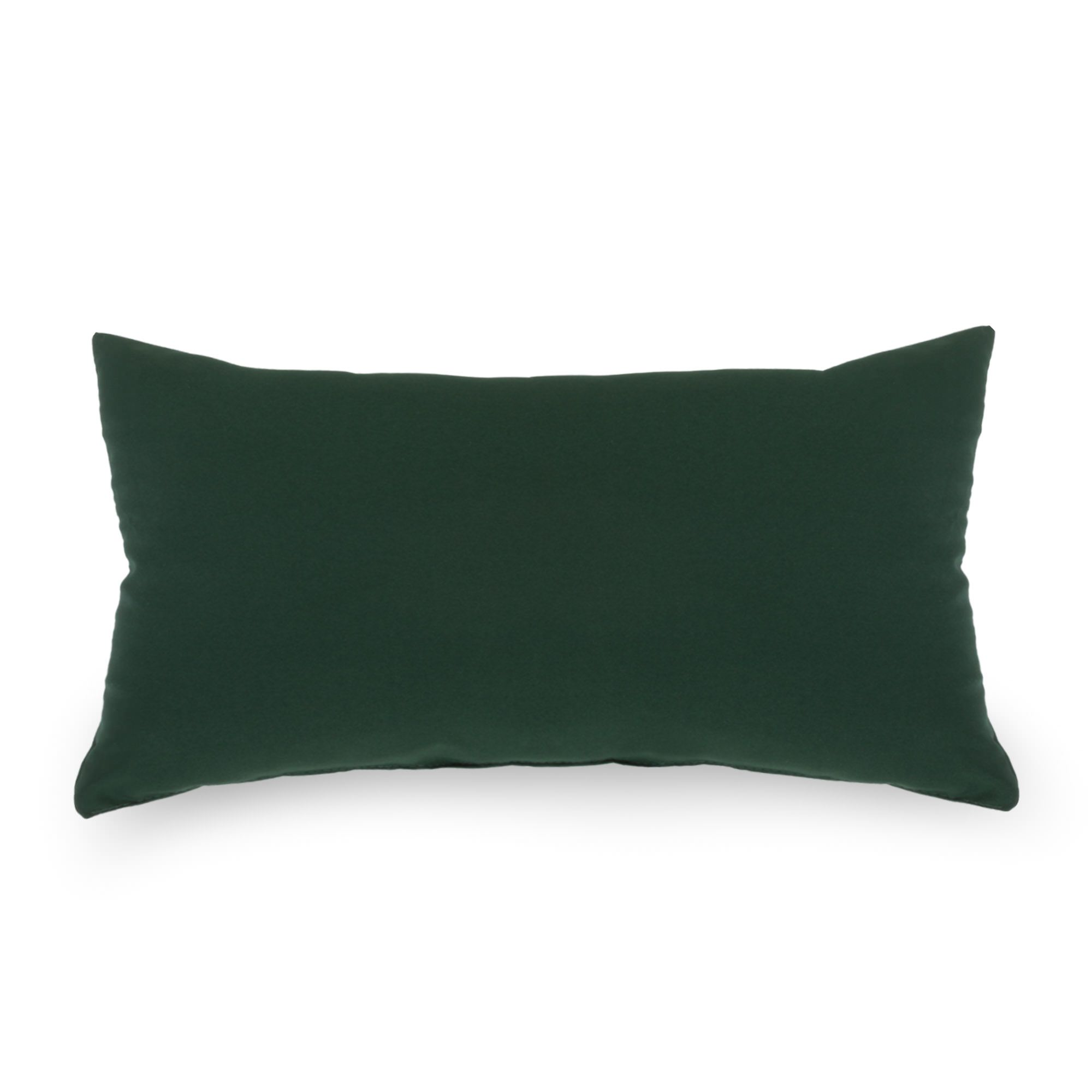 Green Outdoor Throw Pillow 19 in. x 10 in. Rectangle/Lumbar SKU: BSQIGRR DFOHome