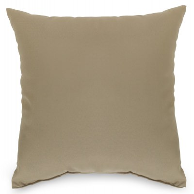 Tan Outdoor Throw Pillow 16 in. x 16 in. Square
