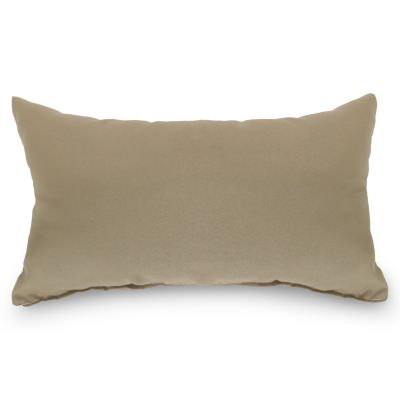 Tan Outdoor Throw Pillow 19 in. x 10 in. Rectangle/Lumbar
