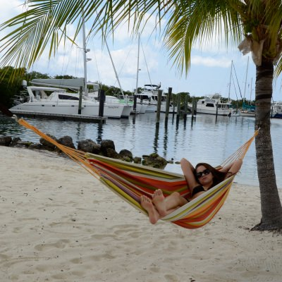 11 ft. 2 in Fabric Hammock - Tropical Stripe