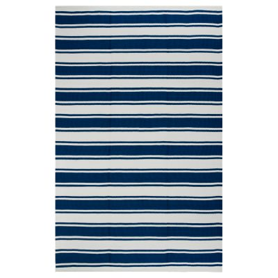 Lucky Blue and White Outdoor Rug