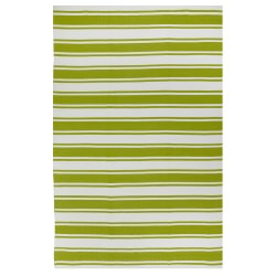 Lucky Green and White Outdoor Rug