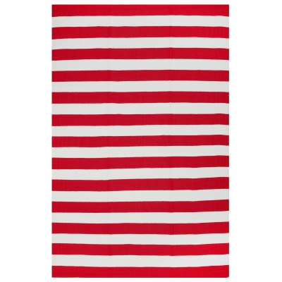 Nantucket Red and White Outdoor Rug