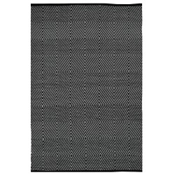 Zen Black and White Outdoor Rug