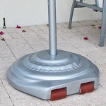 22 in. Round Fiberglass Umbrella Base with Wheels