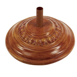 90 Lbs. Round Fiberglass Umbrella Base in Teak
