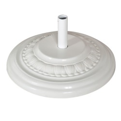 90 Lbs. Round Fiberglass Umbrella Base in White Color