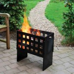 Rectangular Powder Coated Steel Fire Basket