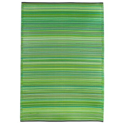 Cancun Green Outdoor Mat 4x6