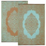 Istanbul Fair Aqua and Warm Taupe Outdoor Mat