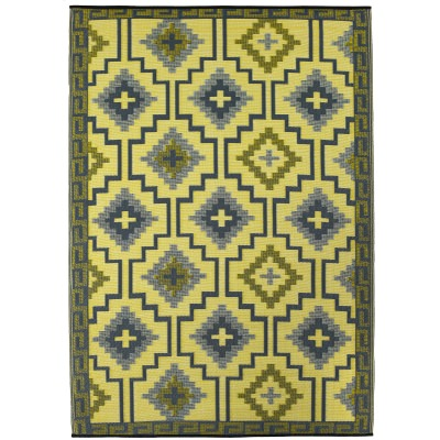 Lhasa Empire Yellow and Gray Outdoor Mat