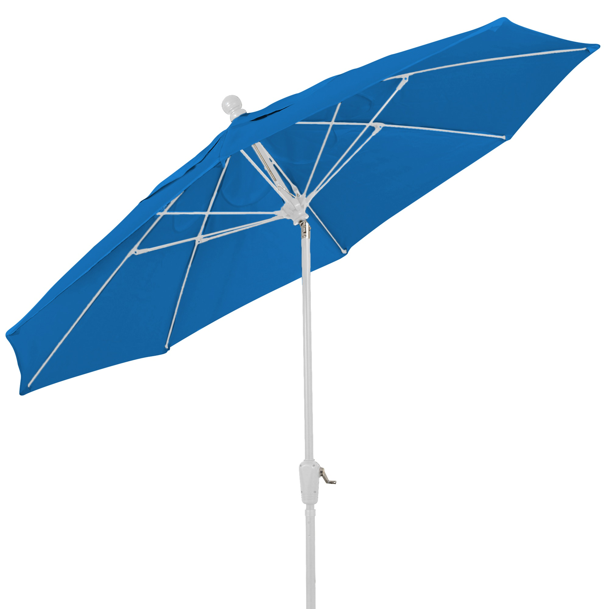 Shop 9 Ft Crank Lift Patio Umbrella with White Pole and Push
