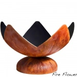 Fire Flower Artisan Fire Bowl with Patina Finish