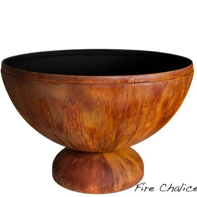 Fire Chalice Artisan Fire Bowl with Patina Finish