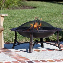 Antique Bronze Roman Fire Pit