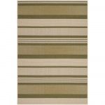 Five Seasons Santa Barbara Green and Cream Outdoor Rug