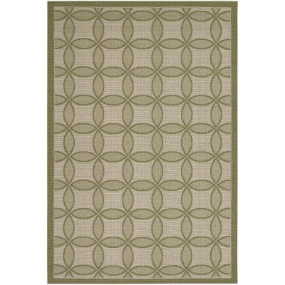 Five Seasons Retro Clover Green and Cream (1 ft. 11 in x 3 ft. 7 in.)