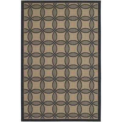 Five Seasons Retro Clover Black and Cream (1 ft. 11 in x 3 ft. 7 in.)
