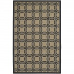 Five Seasons Retro Clover Black and Cream Outdoor Rug