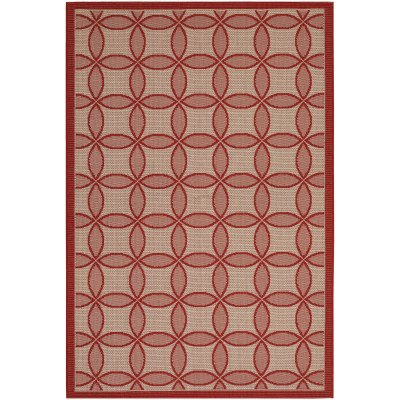 Five Seasons Retro Clover Red and Natural (1 ft. 11 in x 3 ft. 7 in.)