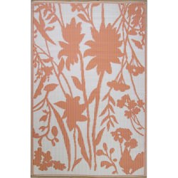 Coral Bellingrath Outdoor Mat