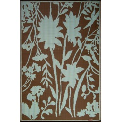 Teal Brown Bellingrath Outdoor Mat