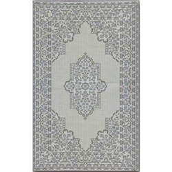 Bouquet Cool Silver Outdoor Rug