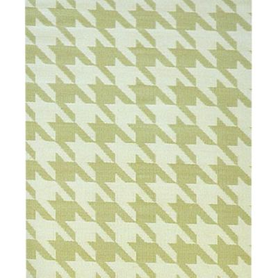 Houndstooth Cream Umber Outdoor Mat 4ft x 6ft