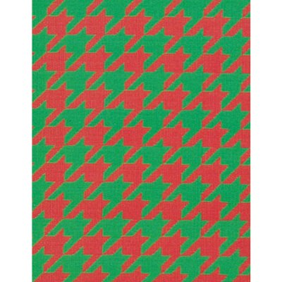 Houndstooth Red Outdoor Rug 5 x 8