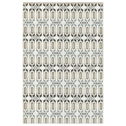 Moroccan Grey/White Recycled Outdoor Mat