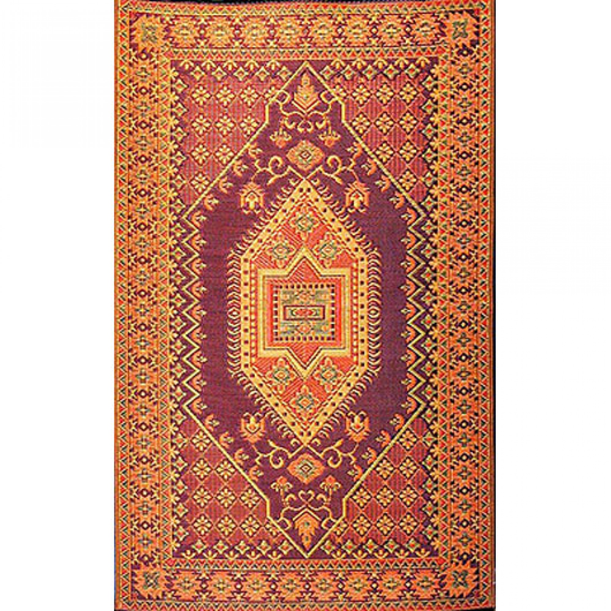 Plastic Outdoor Rug Mat: Oriental Turkish Rust Outdoor Mat