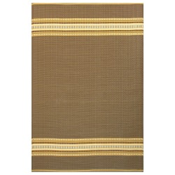 Serape Medium Brown Recycled Outdoor Mat