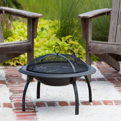 29 in Steel Folding Fire pit