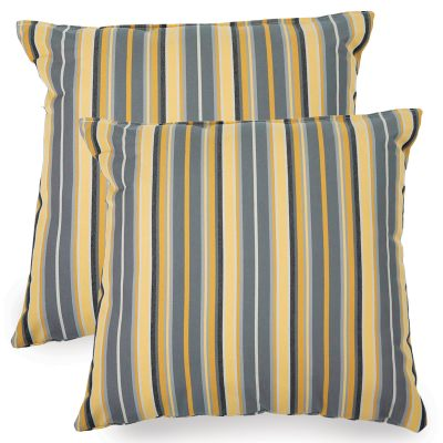 Foster Metallic Sunbrella Indoor/Outdoor Throw Pillow - Set of Two