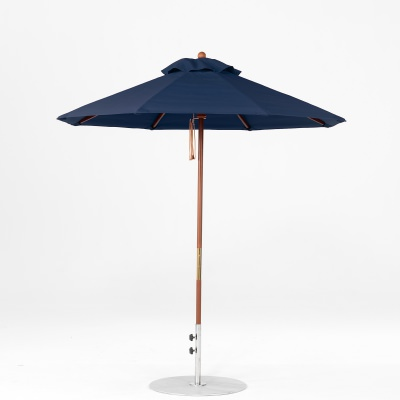 7.5 Ft. Pulley Lift Indonesian Hardwood Market Umbrella