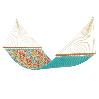 Fresca Fiesta Large Quilted Hammock Made in USA with Reversible Sunbrella Fabric
