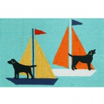 Frontporch Sailing Dogs Outdoor Rug