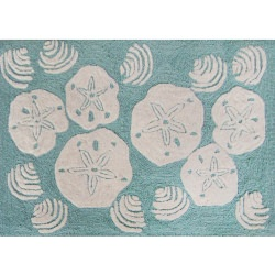 Frontporch Shell Toss Aqua Outdoor Rug