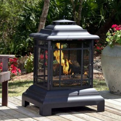 Rectangle Pagoda Patio Fireplace